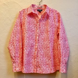 NWOT Land's End Button Down Shirt 12P
